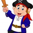 Pirate boy cartoon - Imagen vectorial
