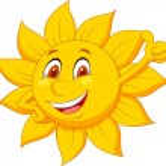 Sun cartoon character with thumb up — Stock Vector #25416559