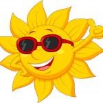 Sun cartoon character with thumb up — Stock Vector #25416655