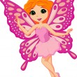 Beautiful pink fairy cartoon — Stock Vector #25418841