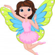 Beautiful fairy cartoon - Stock Vector