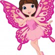 Cute pink fairy cartoon — Stock Vector #25419211
