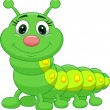 Cute green caterpillar cartoon — Stock Vector #25419283