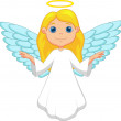Little cute flying angel isolated on white. — Stock Vector #25419811