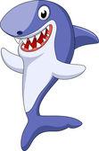 Cute shark cartoon waving — Stock Vector