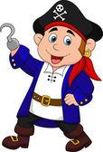 Cute pirate kid cartoon — Stock Vector