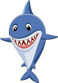 Cute shark cartoon — Stock Vector