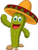 Cute cactus cartoon character — Stock Vector