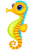 Cute seahorse cartoon — Stock Vector