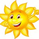 Sun cartoon character with thumb up — Stock Vector #25421277