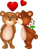 Bear kissing — Stock Vector