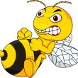 Angry bee — Stock Vector #27367103