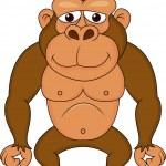 Cute gorilla cartoon — Stock Vector