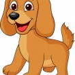 Vector de stock : Cute dog cartoon
