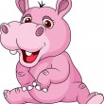 Cute hippo cartoon — Stock Vector