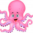 Cute octopus cartoon — Stock Vector #27367459