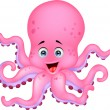 Stock Vector: Cute octopus cartoon