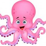 Cute octopus cartoon — Stock Vector
