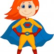 Stock Vector: Superhero kid