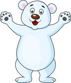 Polar bear cartoon waving — Vector de stock