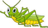 Cute grasshopper cartoon — Stock Vector