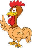 Rooster cartoon waving — Stock Vector