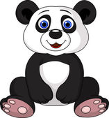 Cute baby panda cartoon — Stock Vector