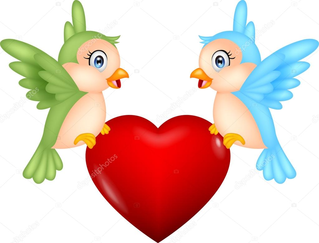 Love Birds Cartoons Bird Cartoon With Love