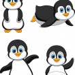 Funny penguin cartoon — Stock Vector