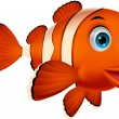 Cute clown fish cartoon — Vector de stock #27374595
