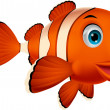 Cute clown fish cartoon — Stock vektor #27374595