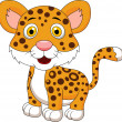 Cute baby tiger cartoon — Stock Vector #27377539