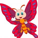 Cute butterfly cartoon — Stock Vector #27377709
