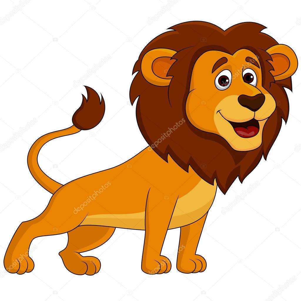 Cartone animato leone — vettoriali stock tigatelu