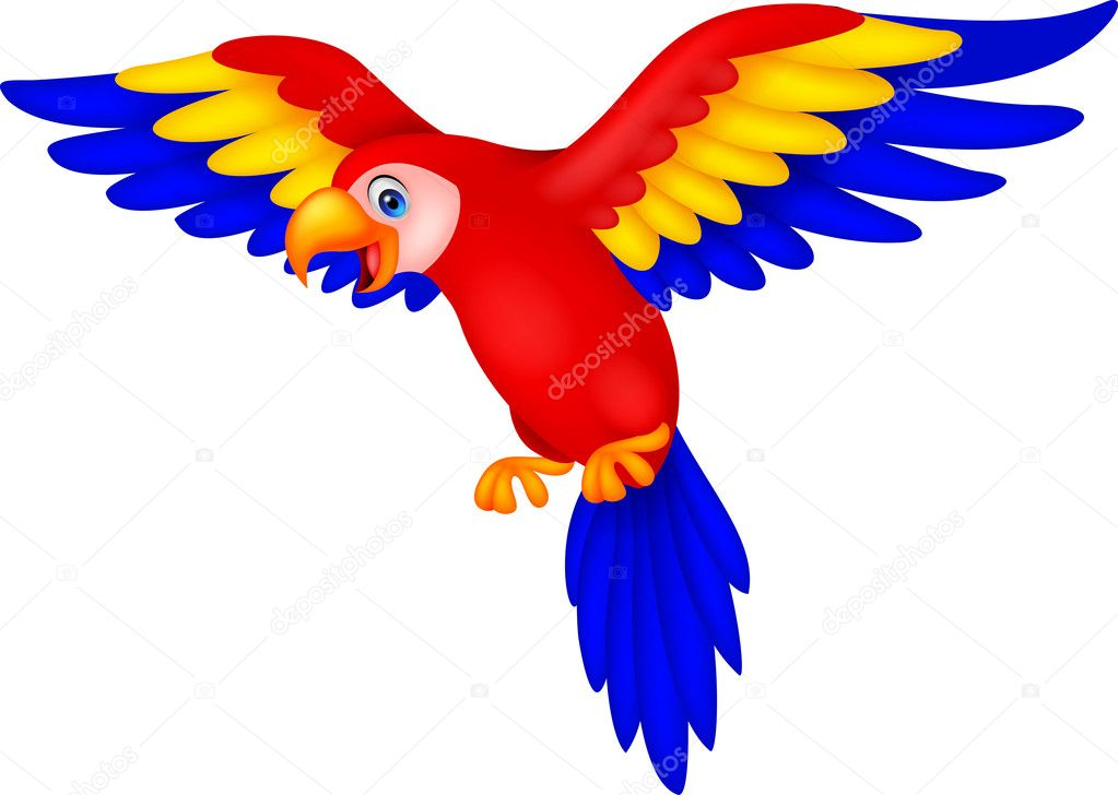 Dibujos Animados De Pájaro Tucán Lindo Vuelo