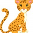 Cute cheetah cartoon — Stock Vector