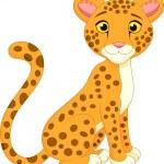 Cute cheetah cartoon — Stock Vector