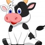 Cute cow cartoon — Stock Vector #27381915