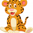 Cute baby leopard cartoon — Stock Vector #27382483