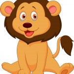 Cute baby lion cartoon — Stock Vector #27382501
