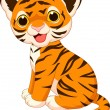 Cute baby tiger cartoon — Stock Vector #27382693