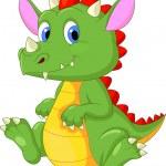 Cute dragon cartoon — Stock Vector