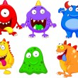 Stock Vector: Cute monster collection set