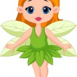 Stock Vector: Cute fairy cartoon