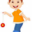 Young boy playing yo yo — Vector de stock  #27385213