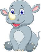 Cute rhino cartoon — Stock Vector