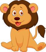 Cute baby lion cartoon — Stock Vector