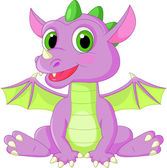 Cute dragon cartoon — Stock Vector