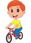 Boy riding bicycle — Stock Vector