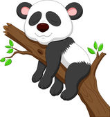 Sleeping panda — Stock Vector